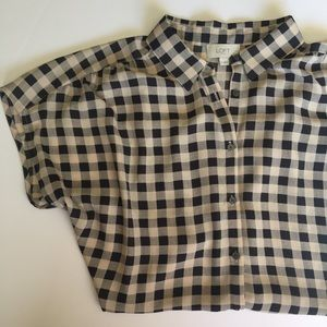 LOFT • Buffalo Plaid Button Down